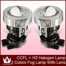 Night Lord H3 Conversion Kit Projector Lens Fog Lamp/Lights Lens+CCFL Halo Ring+HID Xenon bulb 35w +Slim Ballast   Free Shipment