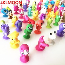 100 Pcs/Lot Mini Sucker Dolls Marine Land Strange Animal Cupule Suckers kids Action Toy Capsule Model Suction Cup Puppets