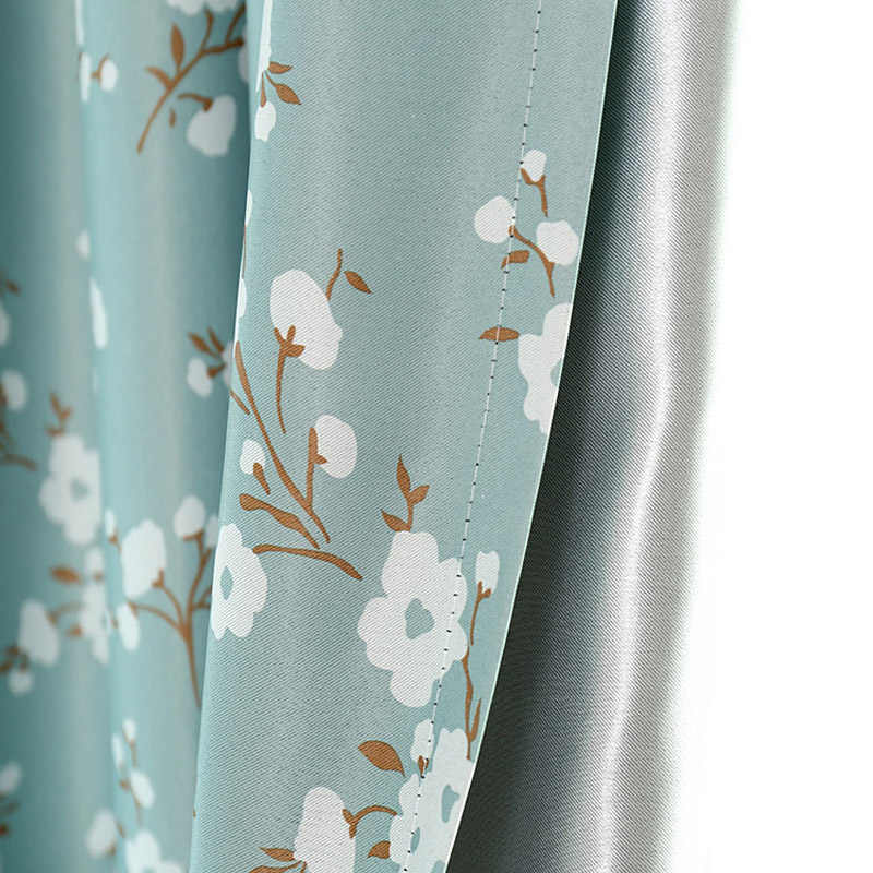 Plum Blossom Printed Curtains for Bedroom Countryside Pastoral Rural French Window Treatment Drapes WP124C