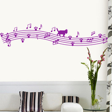 Adesivo De Parede Rushed  Wall Stickers Home Decor Eva Notes Music Child Real Painting Duomaomao