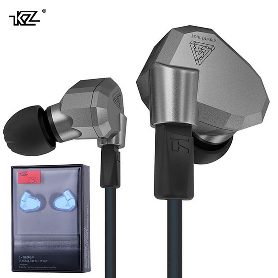 Original KZ ZS5 2DD+2BA 8 Driver Unite Dynamic Hybrid  Monitor Earphone HIFI DJ Running Sport Headphone Earplug Headset Earbud<br>