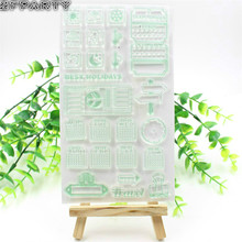 ZFPARTY Best Holidays Transparent Clear Silicone Stamp/Seal for DIY scrapbooking/photo album Decorative clear stamp sheets