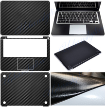 Carbon Fiber Full Black Sticker for apple macbook air 13 Skin Case Model A1369 A1466 Laptop Computer Vinyl Decal