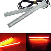 2pcs/pack New Red COB Car LED Lights 12V For DRL Fog Driving Lamp Waterproof Brake External Light