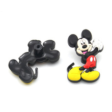 10PCS Creative Cartoon drawer knob dresser pull Soft rubber Mickey mouse cabinet cupboard door handle knob