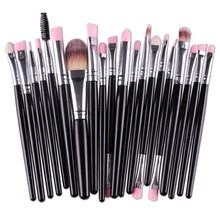 MAANGE 20pcs/set Eye Shadow Contour Foundation Eyebrow Lip Brush Professional Makeup Brushes Set Oval Makeup Brush Tools(China)
