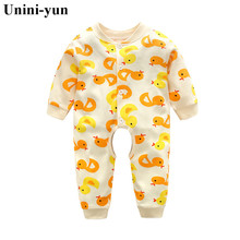 Buy Branded Baby Rompers Pajamas Newborn Baby Clothes Cartoon Infant Cotton Long Sleeve Jumpsuits Boy Girl Autumn Bird Clothes Wear for $4.15 in AliExpress store