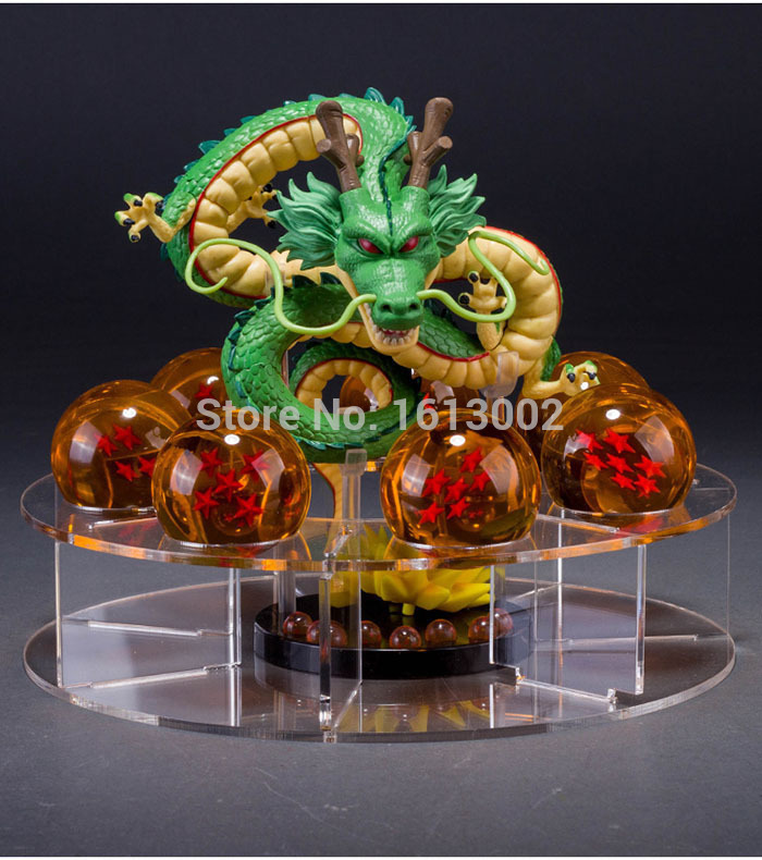 1-7 Star 4.5cm Movie Japanese Dragon With Ball Base Dragon Ball Z Action Figure Crystal Balls Bricks Children Gift Toys<br>