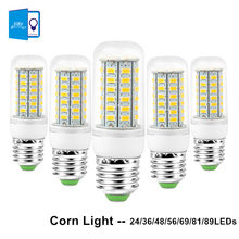 [DBF]E27 LED Lamp 220V 240V LED Light Corn Bulb SMD5730 Lamp LED Bulbs 24/36/48/56/69/81/89LEDs Home Decorated Chandelier Lights(China)
