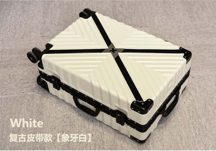 Retro Travel Trolley Luggage With X Belt Aluminum Frame Alloy Business Rolling Luggage Airplane Suitcase Spinner Wheels (10)