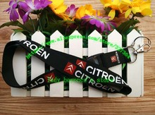 Free shipping hot 10pcs/lot CITROEN car lanyards mobile phone neck key chains straps accessory L-1253