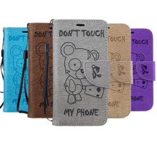 Buy Embossing Cartoon Bear Flip Leather Case sFor Funda iPhone 7 Case Wallet Card Cover iphone 7 Case Phone Coque Capa for $3.98 in AliExpress store