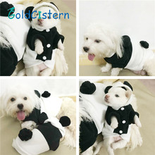 Warm Fleece Pet Dog Clothes Puppy Kitten Hoody Cute Panda Design Coat Costume Outwear for Dogs Cat Party Cosplay Halloween Dress(China)