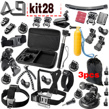 A9 For Gopro accessories set go pro kit mount  SJCAM Xiaomi Yi for  Sony Act Cam HDR AS200V AS100V AZ1 mini FDR-X1000V/W 4 k