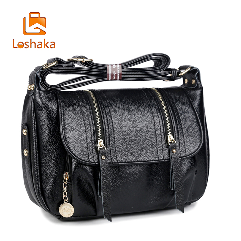 Loshaka Women Handbag Genuine Leather Tote Bag Female Classic Serpentine Prints Shoulder Bags Ladies Handbags Messenger Bag<br>