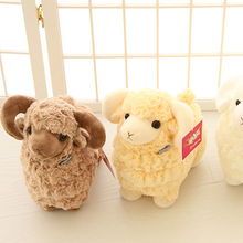 Cute Goat Lamb Soft Plush Toys 3 Colors Stuffed Soft Peluche Animal Sheep Toy for Baby Kids Gift(China)