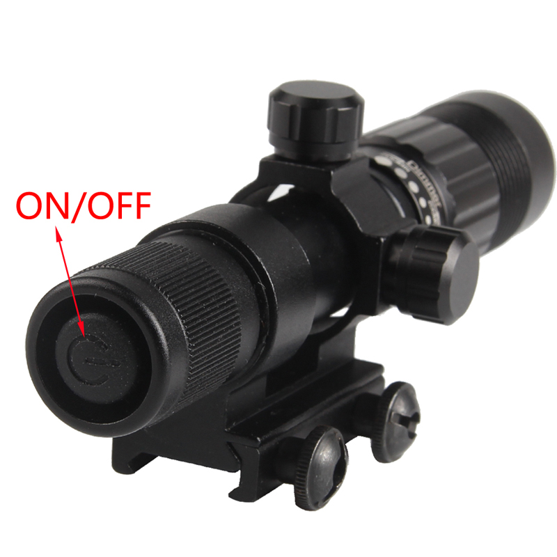 Night Vision Optics Adjustable Strong Green Laser Flashlight Illuminator Hunting Laser Sight Free Shipping RL8-0006G-02