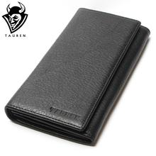 2018 Men's China Manufacturer Wallet 100% Genuine Leather Black Color For Business Man Vintage Wallets Men Leather(China)