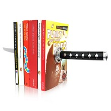 Free Shipping 4Pieces Magnetic Ninja Bookends Katana Hidden Sword Optical Illusion Bookends Katana Bookends With Hidden Brackets