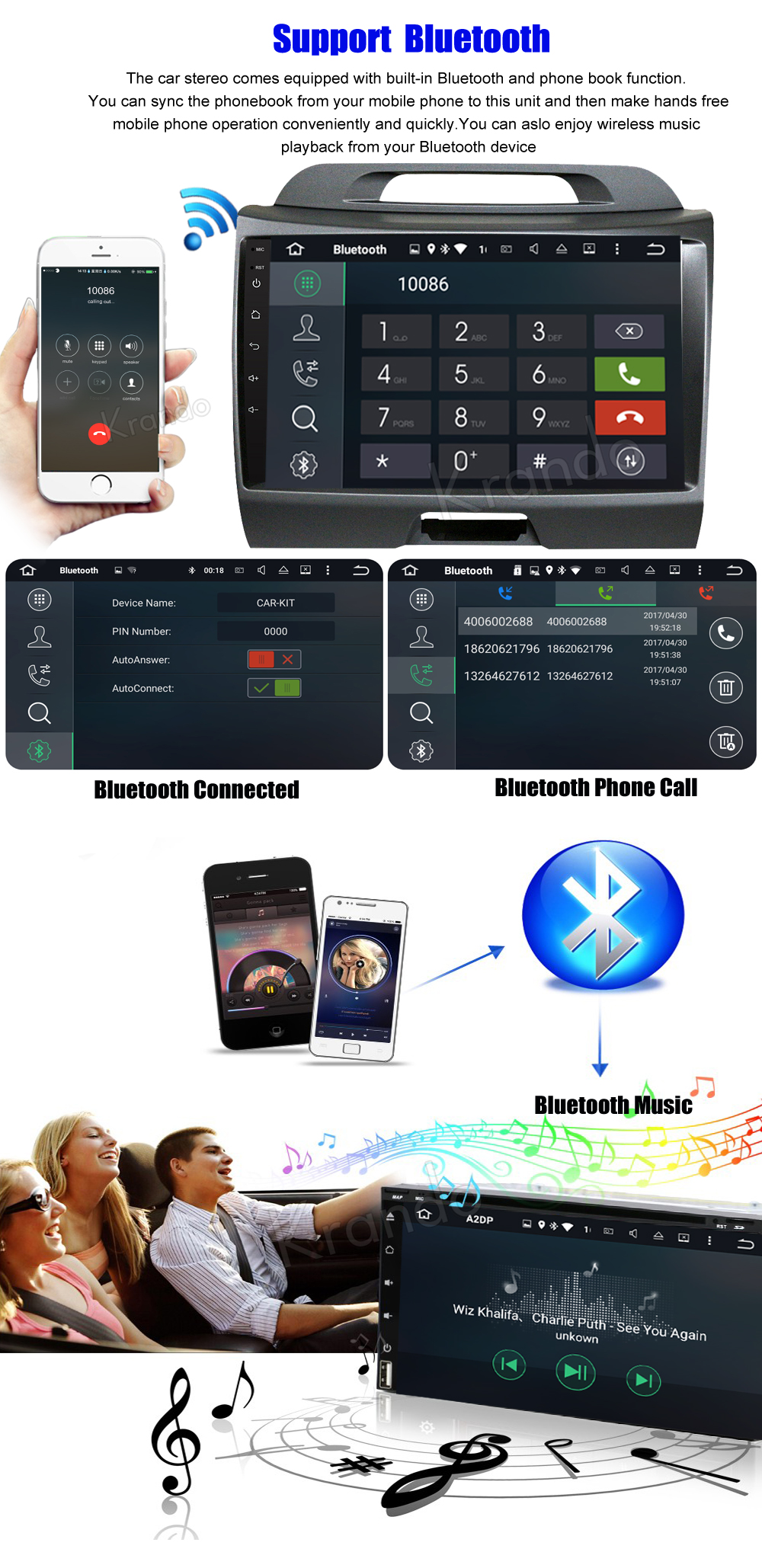 Krando android car stereo navigation system for kia sportage 2010-2014 car dvd player (3)