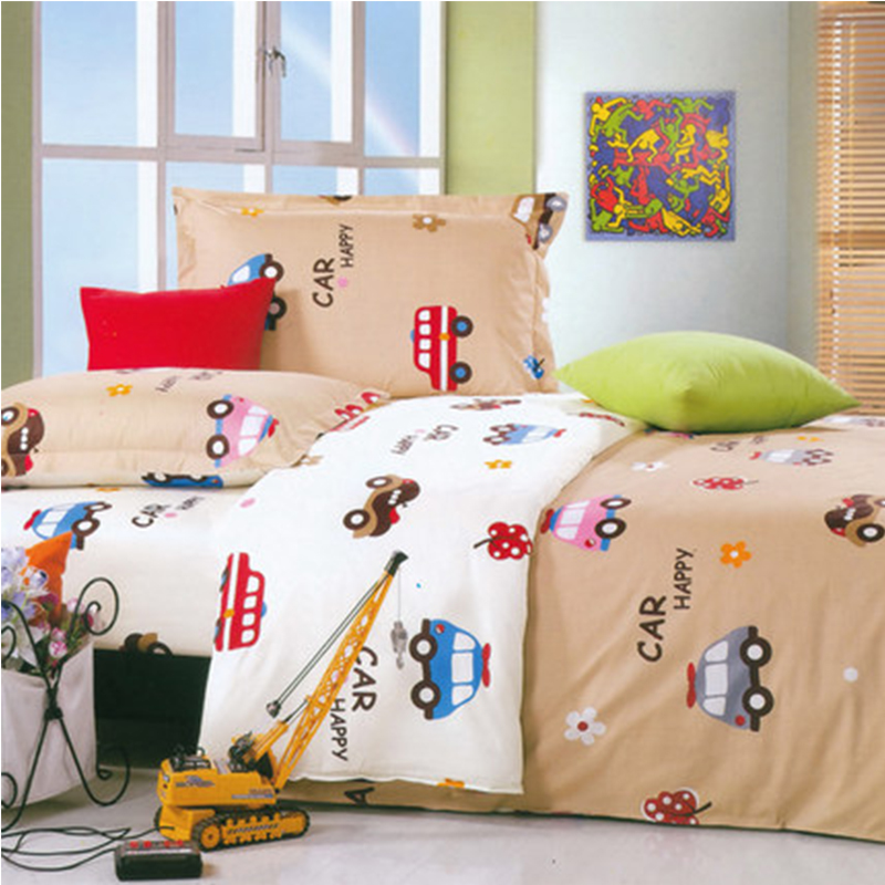 3 Pcs Cotton Baby Bedding Set Cartoon Baby Quilt cover +2 pillowcases<br>