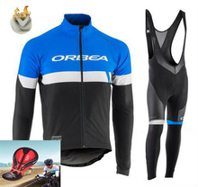 ORBEA Team 2017 Winter Thermal Fleece Quick Dry Cycling Jersey Set Outdoor Sport Coat Clothing Bib Suit(China)