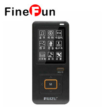 100% Original RUIZU X10 MP3 Player Free Media Music Downloads 8GB With FM Support 8GB TF Card Clock(China)