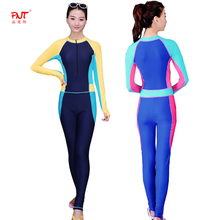 PNT070 New Scuba Diving Suit For Women Swimsuit High Quality Cover Up Zipper Retro Bodysuit Swim Wear Girls Sports Suit(China)