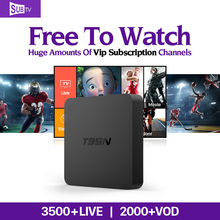 Buy 1 Year Brasil French Arabic IPTV Box S905X Android 6.0 TV Box T95N SUBTV IPTV Account 3500 Live TV Movie Sports Europe Channels for $83.59 in AliExpress store