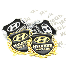 3D Metal Car Body Emblem for Hyundai Solaris Tucson IX35 IX25 I30 I20 Accent Creta Santa Fe auto Stying Logo Badge Sticker