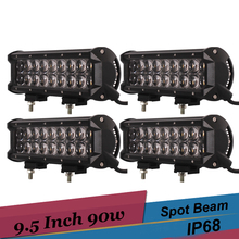 4 x 90w Dual Row LED Bar Work Light Boat Car Truck Lamp Suv UTE ATV Tractor Offroad 4x4 AWD 4WD Driving Headlight Light 12v 24v