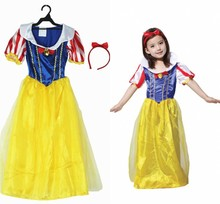 New Children Princess Cosply Costume Girl Cartoon Masquerade Party Dress With Headdress  for Kids Stage Performance Clothing 18