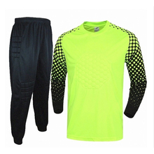 2016 2017 Men's Soccer Goalkeeper Jersey Sponge Protector Suit Camisetas De adult Futbol Jersey Goal Keeper Uniforms