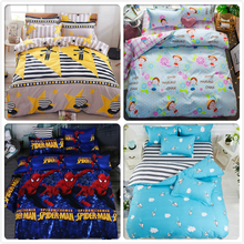 3/4 pcs Bedclothes Boy Girl Kids Bedding Sets King Queen Twin Double Size Duvet Cover 1.5m 1.8m 2.0m 2.2m Flat Sheet Bed Linens(China)