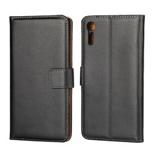 For Sony Xperia XZ Case 5.2 Inch Genuine Leather Flip Cover Wallet Stand Phone Bags Cases for Sony XZ Fundas Shell with Card Hol(China)