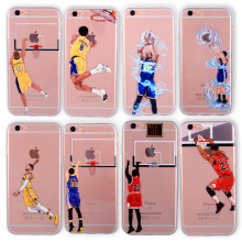 Basketball Phone Case for iphone 6 Cases Silicone back Cover for iphone 8 7 plus 5 5se 6s curry jordan Kobe Bryant Wade(China)