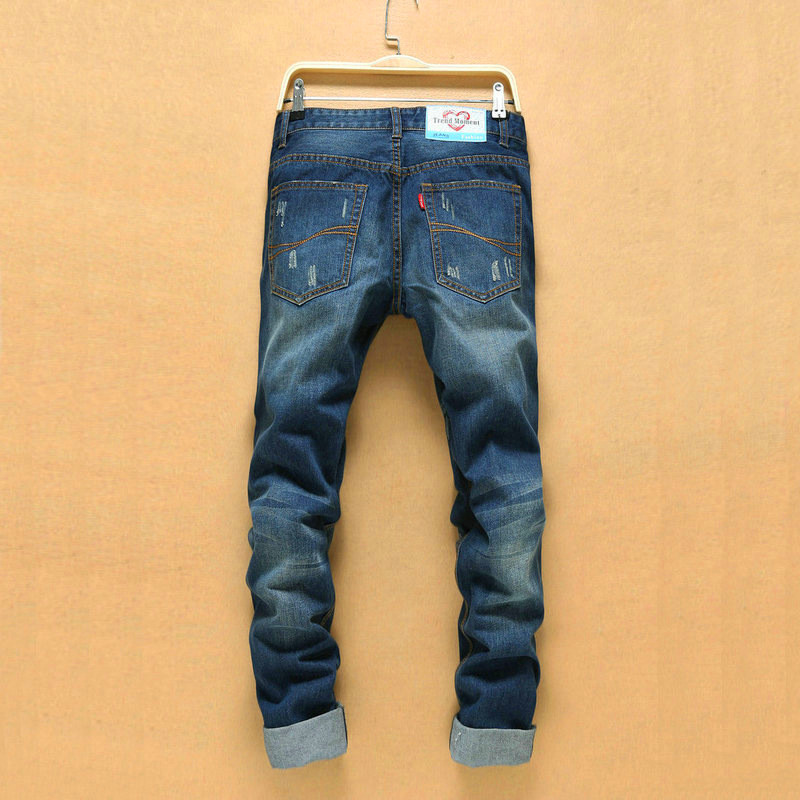 Korean Version Ripped Jeans Men Hip Hop Hole Cowboy Mens denim Pants Straight Jeans Skinny Men Fashion Ripped Jeans MenОдежда и ак�е��уары<br><br><br>Aliexpress