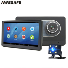 "New 7"" Car GPS Navigation Android 4.4 DVR with two Cameras HD 1204*600 Bluetooth truck gps navigator Navitel/Europe map sat nav"