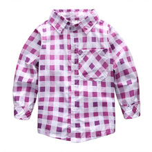 Hi Hi Baby Store  Checked Shirts Kid Girls Long Sleeve Girls Tops Shirt Button Down Cotton Blouse 2-7Y