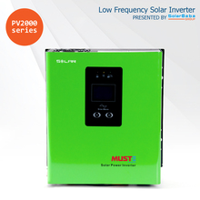MUST POWER PV2000 1200VA/700W Pure Sine Wave Low Frequency Solar Inverter, with built-in PWM Solar Charge Controller