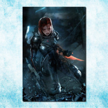 Mass Effect 2 3 4 Hot Shooting Action Game Art Silk Canvas Poster 13x20 24x36 inch Pictures For Living Room Decor (more)-4