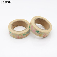 JBFISH Nice Paper Origami Cranes Washi Tape Floral Masking Tapes Decorative Diary Deco 8082(China)