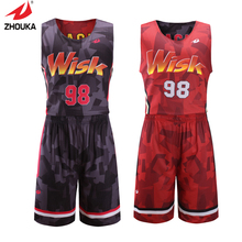 Reversible quick dry full sublimation custom college basketball jerseys personalized print Colorful patterns basquete jersey(China)