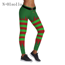Christmas Tree Stripes 3D Printed Women Fitness Apparel 2017 New Arrival Sporting Leggings Knitted Gymnastics Runs Capris Pants