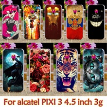 Plastic Case For Alcatel OneTouch Pixi 3 (only for 3G Version) 4.5 inch 4027 4028 one touch pixi3 Case Cover Shell housing