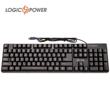 LOGIC POWER keybord English Russian keyboard stickers wired PS/2 Flexible keycaps Gaming gamer Keyboard for Tablet Desktop