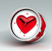2014 Big Heart Big Love Design Magnetic Cheap Wall Clocks,Cheap Desk Clocks,Cheap Table Function Clocks
