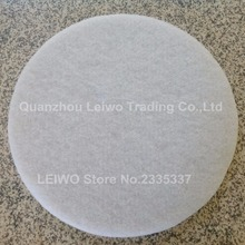 Sponge Polishing Pad 20 inch (500 mm) Without Diamond Plain White Soft To Make Cleaned Concrete Floor Become Shiny Dry Use