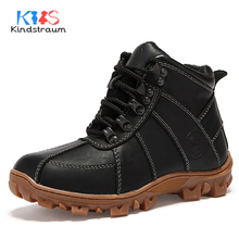 Kindstraum New Winter Boys Casual Boots Waterproof Children Quality Warm Plush Snow Boots Kids Brand Active Shoes Winter, MJ109(China)