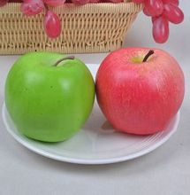 Fake Apple Artificial Fruit Model House Kitchen Party Decoration Home Ornaments Mold Red/Green(China)